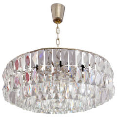Stunning Chandelier with Large Crystals by Bakalowits & Sohne, Vienna, 1960s