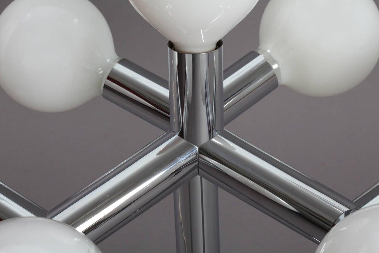 Austrian Space Age Atomium Table Lamp Designed by J. T. Kalmar, Vienna, 1970 For Sale