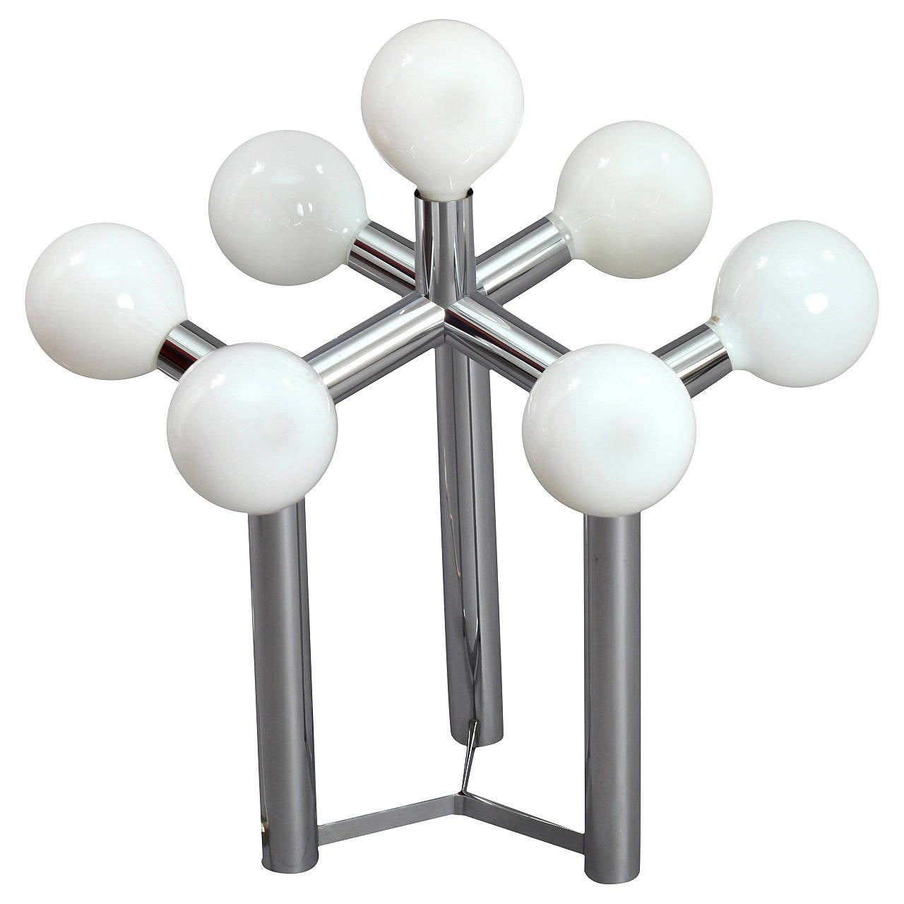 Space Age Atomium Table Lamp Designed by J. T. Kalmar, Vienna, 1970 For Sale