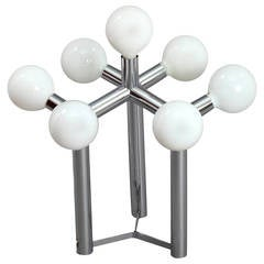 Space Age Atomium Table Lamp Designed by J. T. Kalmar, Vienna, 1970