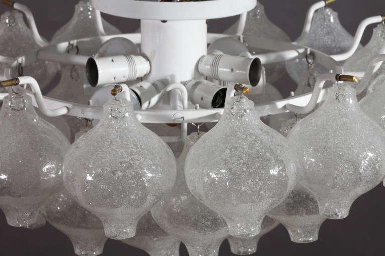 Mid-Century Modern Ceiling Flush Mount Fixtures, Model Tulipan, Designed by J.T. Kalmar For Sale