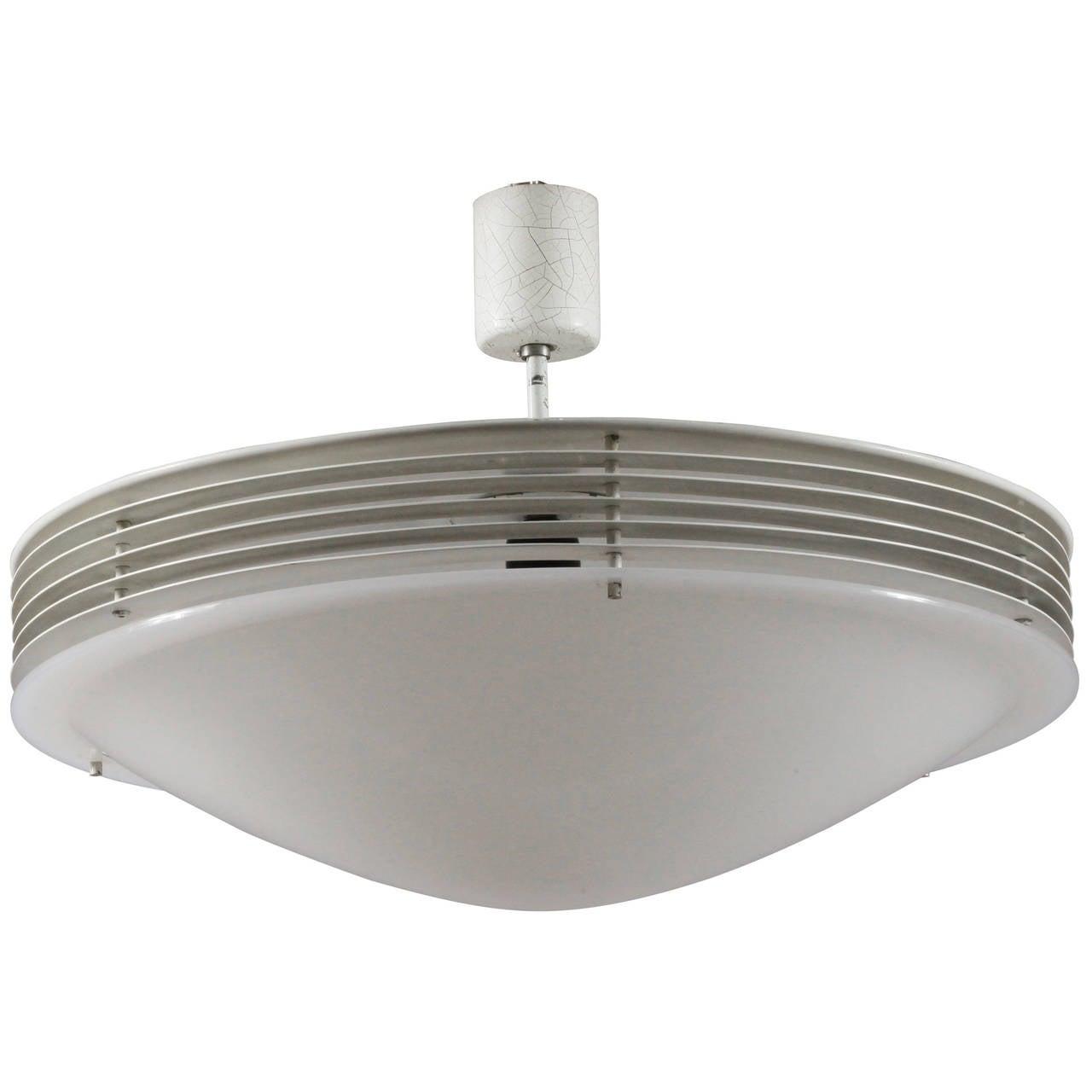 Amazing Diffusion Ceiling Lamp Designed Stilnovo, Italy, 1960