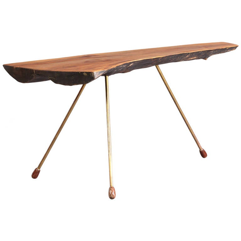 very rare tree trunk table with unsrcewed legs by carl aubck vienna 1950 1 awesome tree trunk table 1