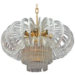 Bakalowits Crystal Glass Chandelier, Vienna, 1960