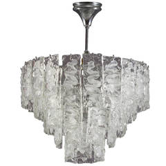 Murano-Glas Hängende Lampe, Italien, 1960