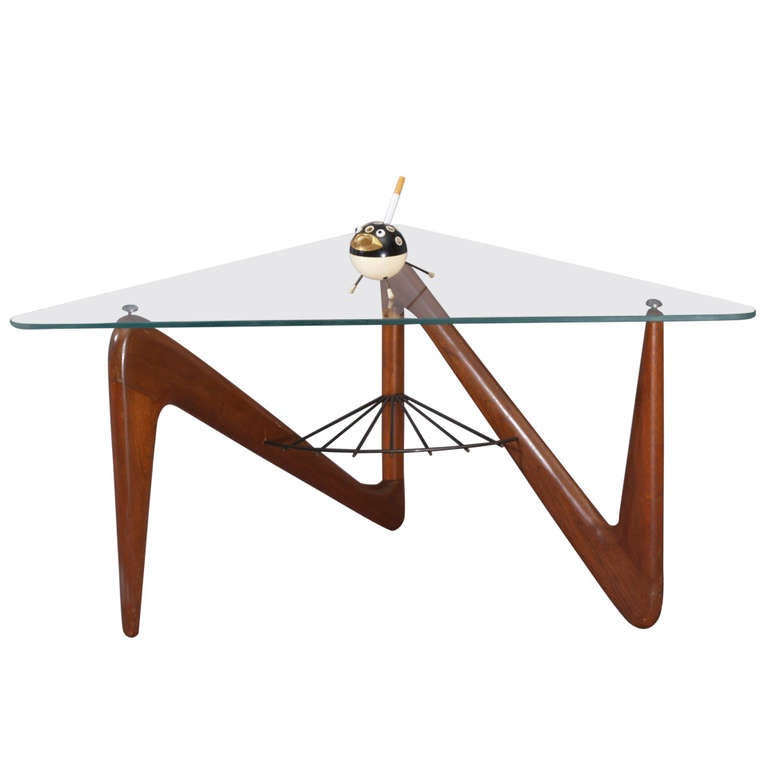 Triangle Coffee Table By Louis Sognot At 1stdibs