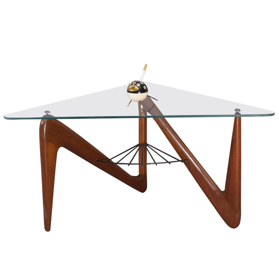 Triangle Coffee Table By Louis Sognot For Sale At Stdibs - Triangle picnic table