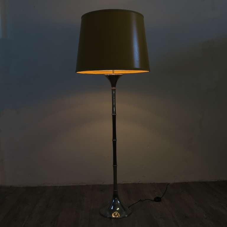 rare ingo maurer ml 1 f chromed floor lamp bamboo 1968 at 1stdibs. Black Bedroom Furniture Sets. Home Design Ideas