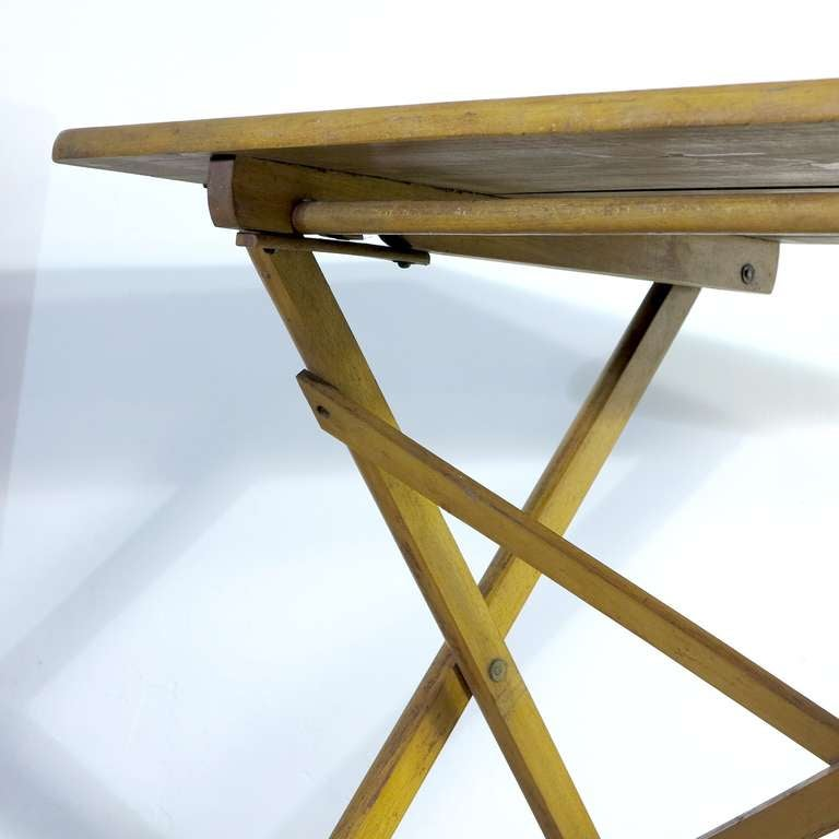 Industrial Wood Folding Table Bauhaus Era Germany 1930 1940 At 1stdibs