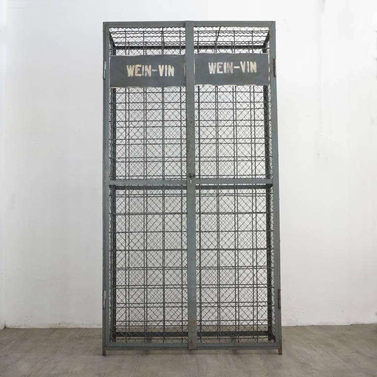 metal cabinet for wine bottles industrial design at 1stdibs. Black Bedroom Furniture Sets. Home Design Ideas