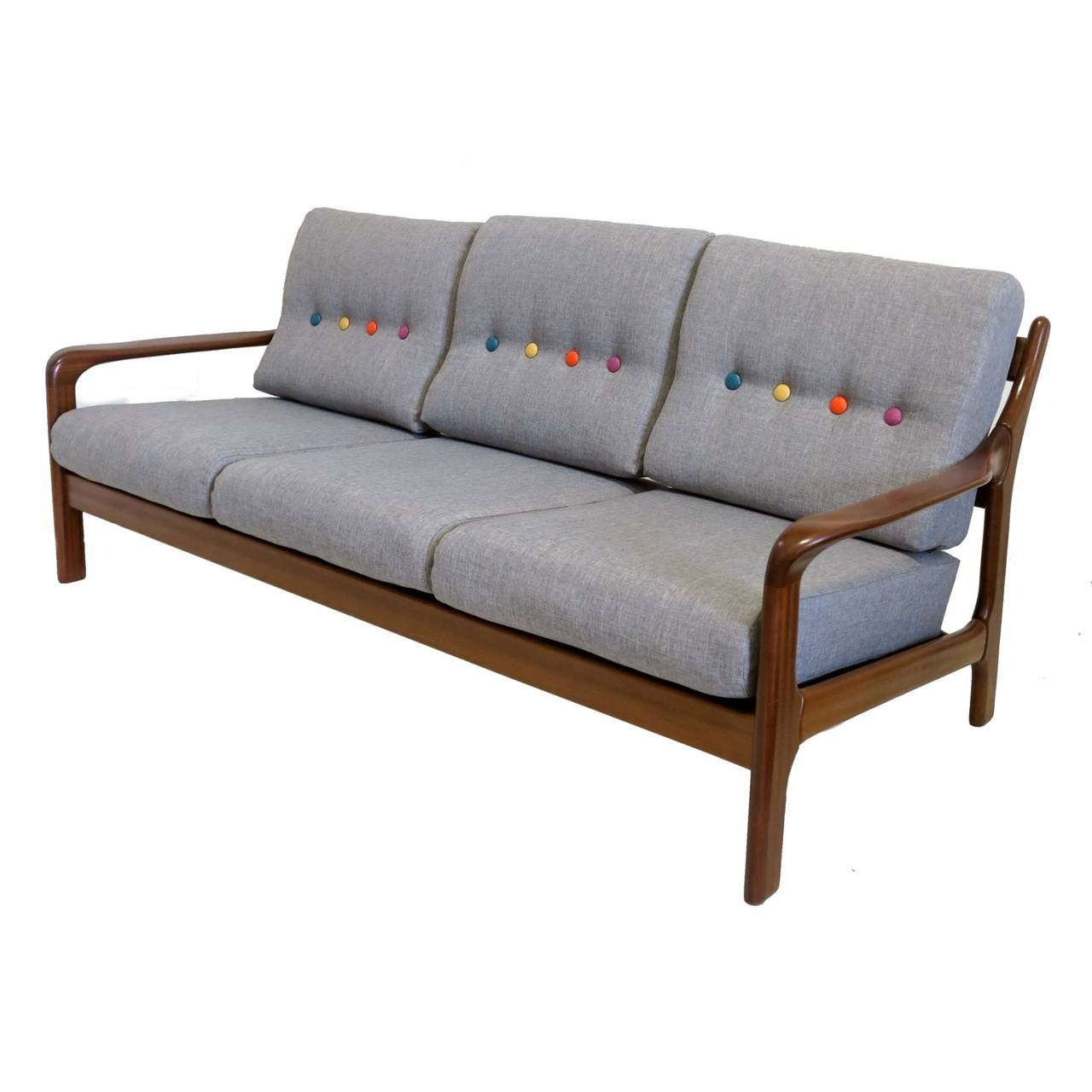 Sofa or daybed in the scandinavian style 1950 1960 at 1stdibs for 50s sectional sofa