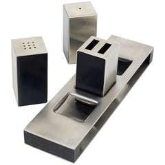 Amboss Austria Modernist Salt Pepper Tootpick Range Set from the 1960s