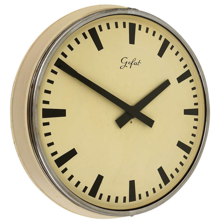Big 23 Train Station Industrial Wall Clock From The 1960s