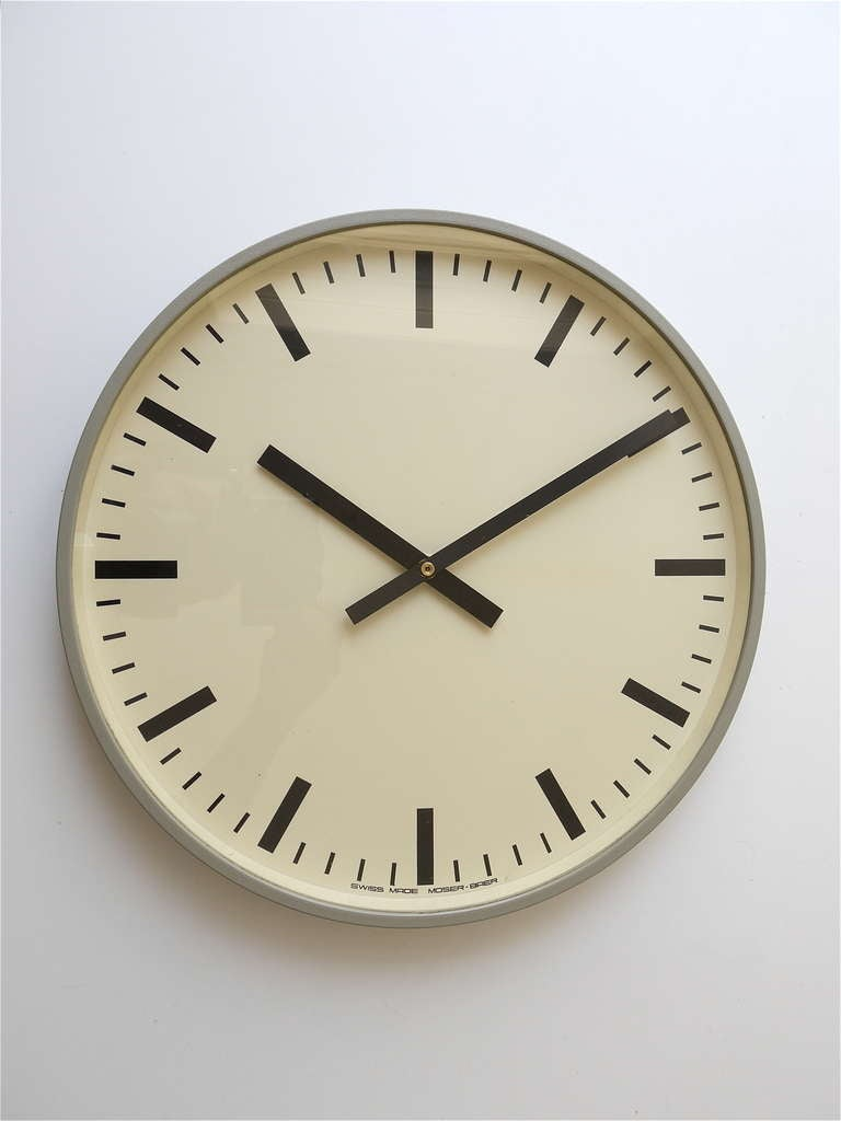 Set of up to 6 identical world time train station swiss wall clocks from the 1960s at 1stdibs - Swiss railway wall clock ...