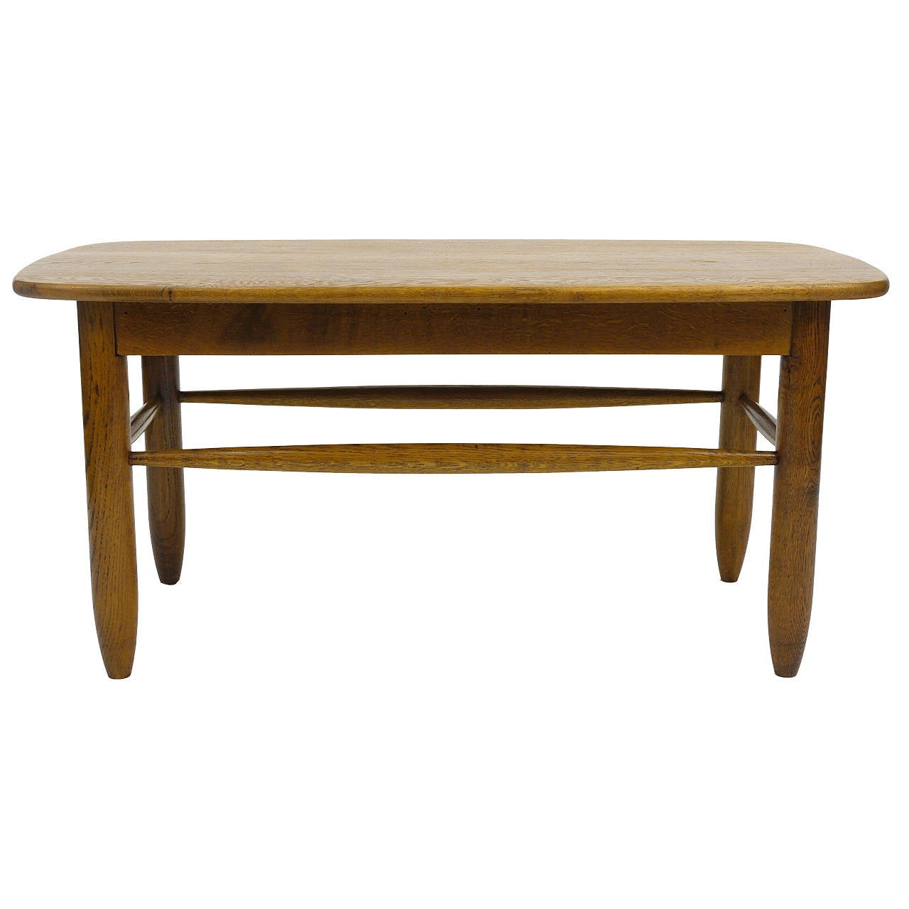 French Mid-Century Coffee Table Attr. Charlotte Perriand, Wood, 1950s