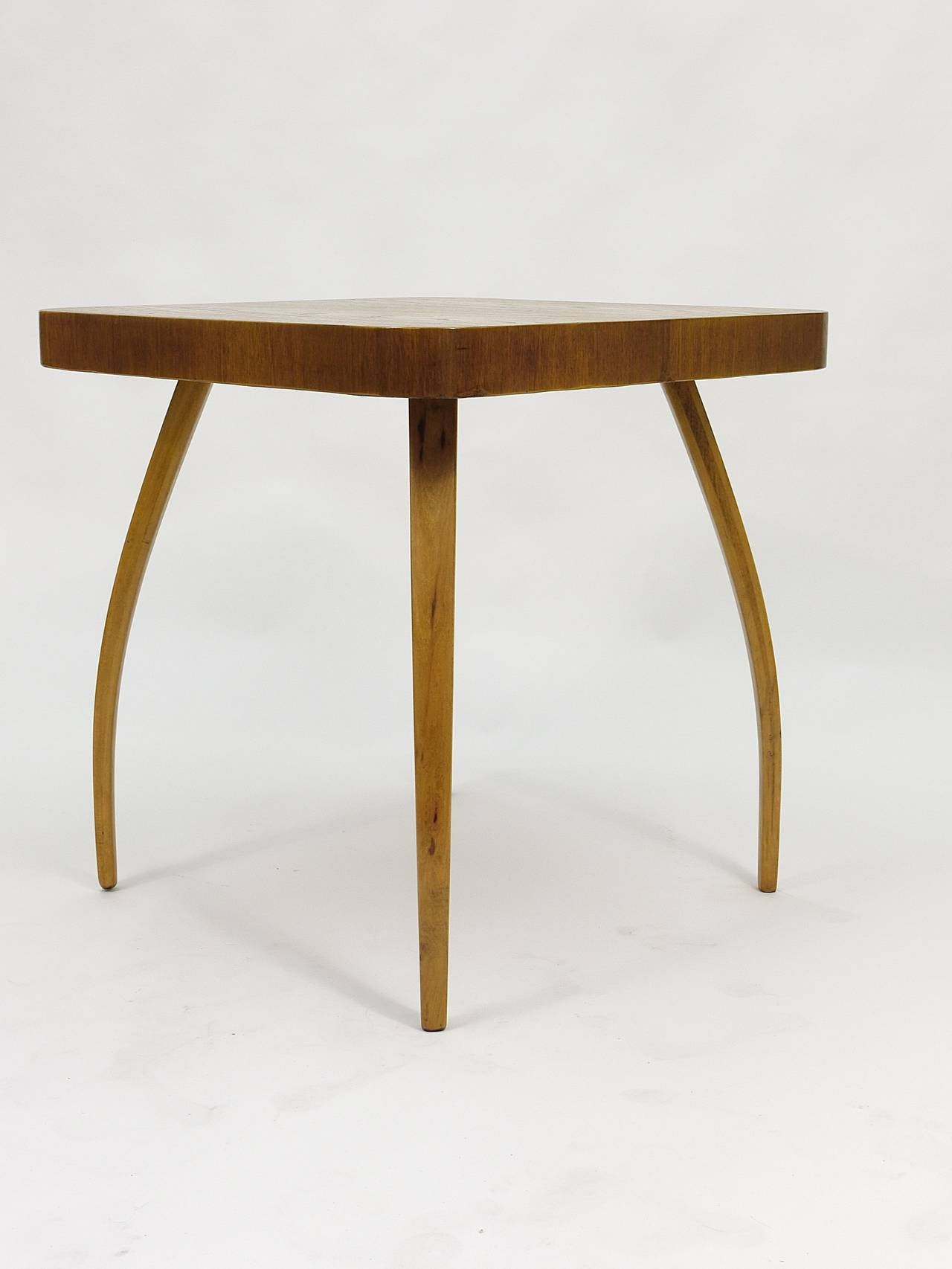 Czech 1930s Spider Side Table H259 By Jindrich Halabala Bauhaus Excellent Condition For
