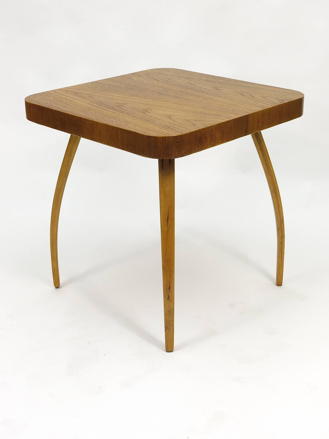 1930s Spider Side Table H259 By Jindrich Halabala Bauhaus Excellent Condition For Sale At 1stdibs