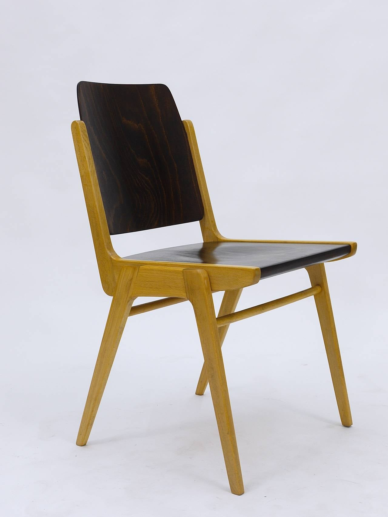 Up to 12 Austro Chair Stacking Chairs by Franz Schuster Wiesner
