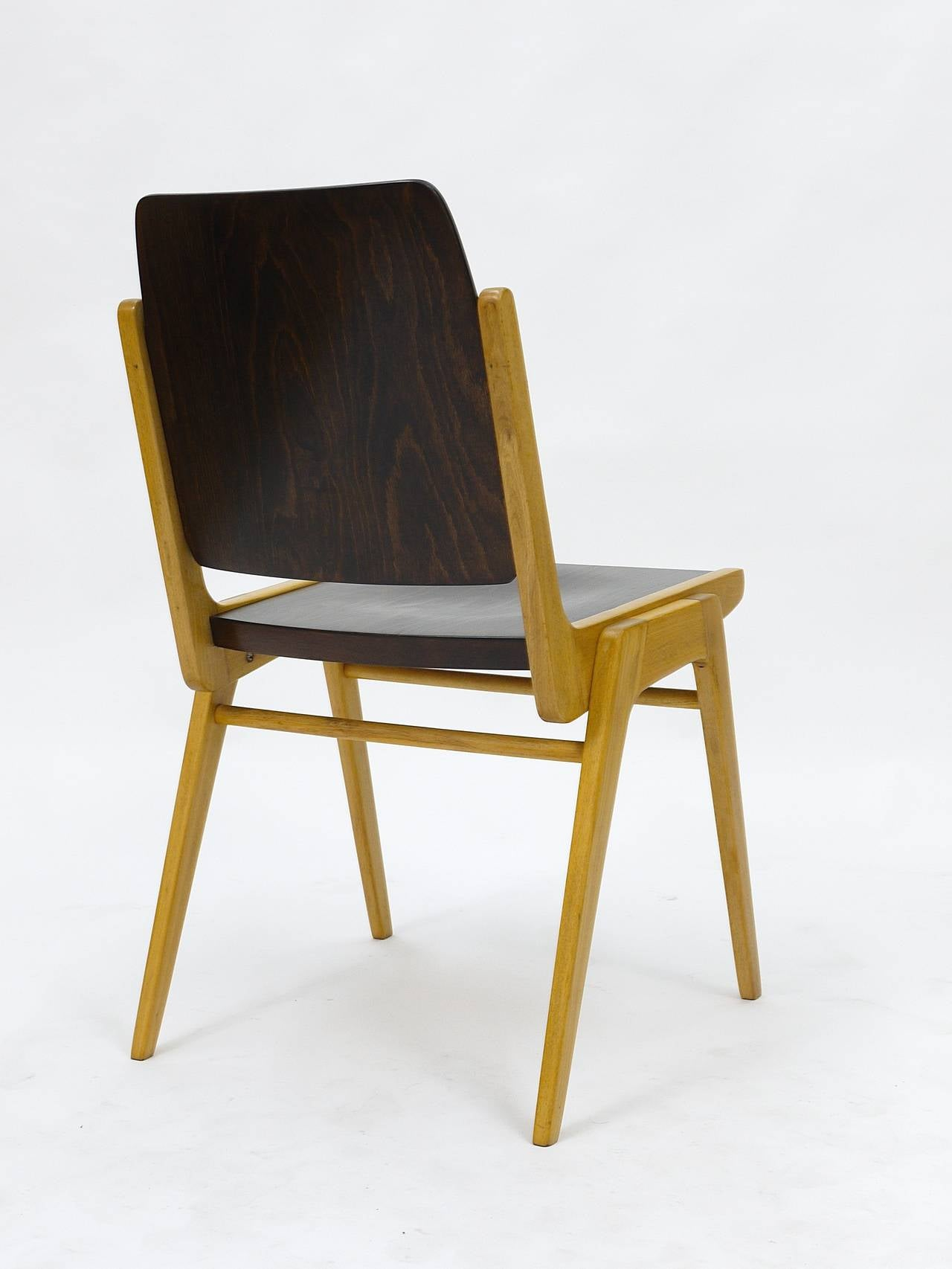 Up to 12 Austro Chair Stacking Chairs by Franz Schuster