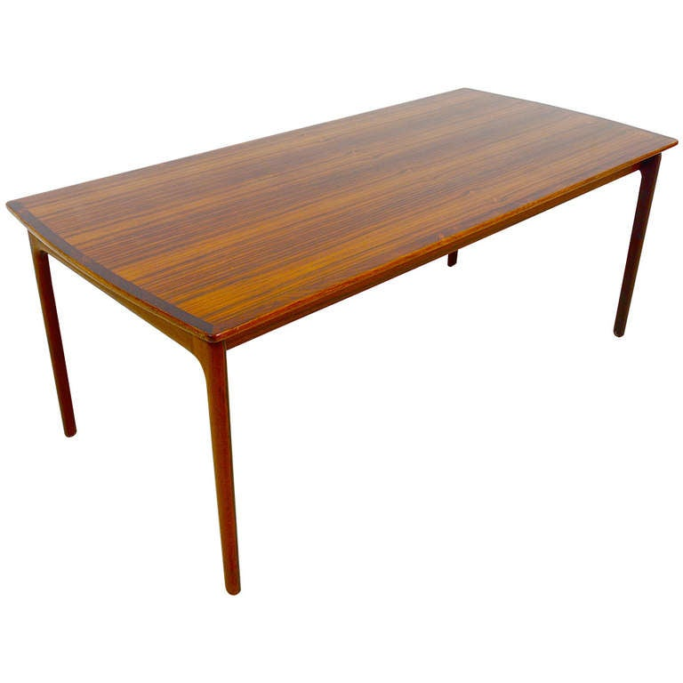 Danish rosewood pj coffee sofa table by ole wanscher p for P jeppesen furniture