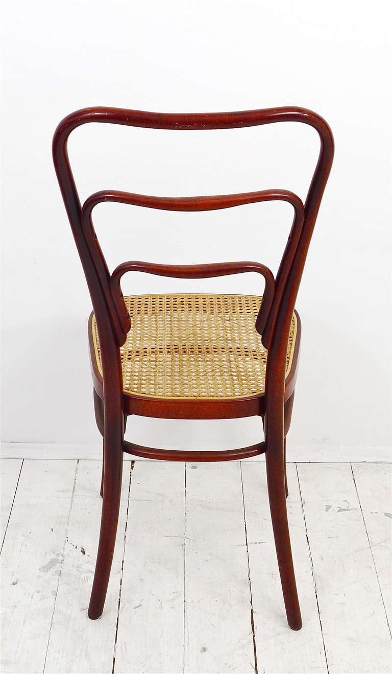 Set Of 6 Adolf Loos Thonet Vienna Café Museum Art Nouveau Bentwood Chairs  For Sale 3