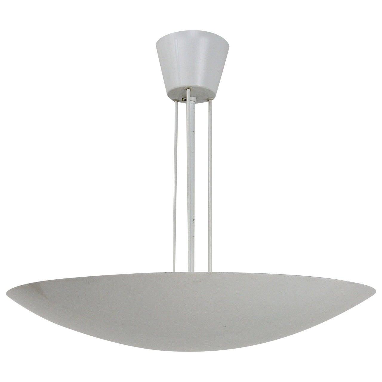 1 of 3 White Kalmar Uplight Bowl Pendant L&s Austria 1970s 1  sc 1 st  1stDibs & 1 of 3 White Kalmar Uplight Bowl Pendant Lamps Austria 1970s For ... azcodes.com