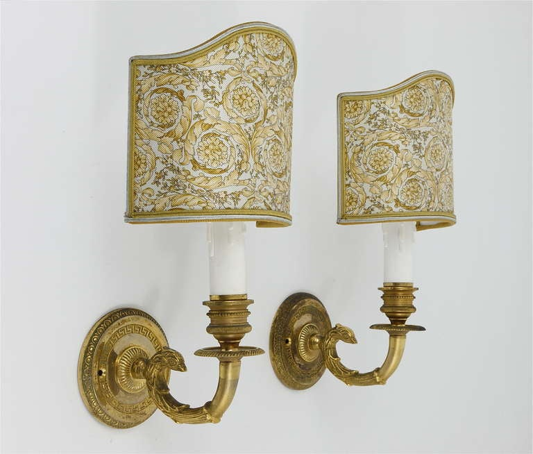 Pair of vintage versace home medusa gilt sconces wall lamps at 1stdibs Versace home furniture uk
