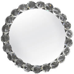 Bakalowits Vienna Round Backlit Wall Mirror with Huge Crystals, Two Available