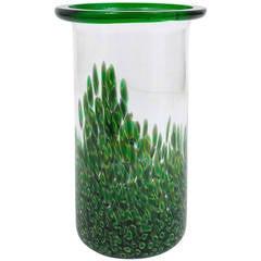 Gae Aulenti Murano Murrhines Glass Vase for Vetreria Vistosi, Italy 1970s