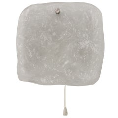 Kalmar Vienna Frosted Ice Glass Panel Sconce Wall Light from 1960s