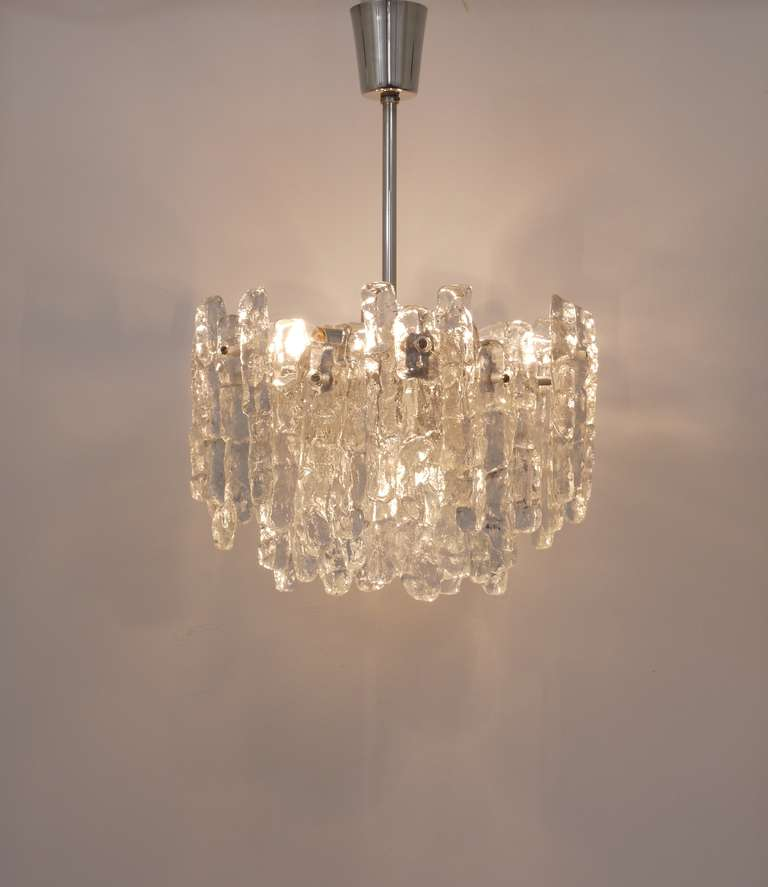 Kalmar Austria Icicle Ice Glass Viennese Chandelier From