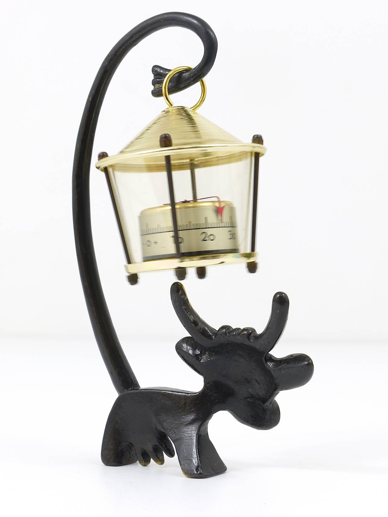 Walter Bosse Cow Figurine with Thermometer by Hertha Baller, Austria, 1950s For Sale 1