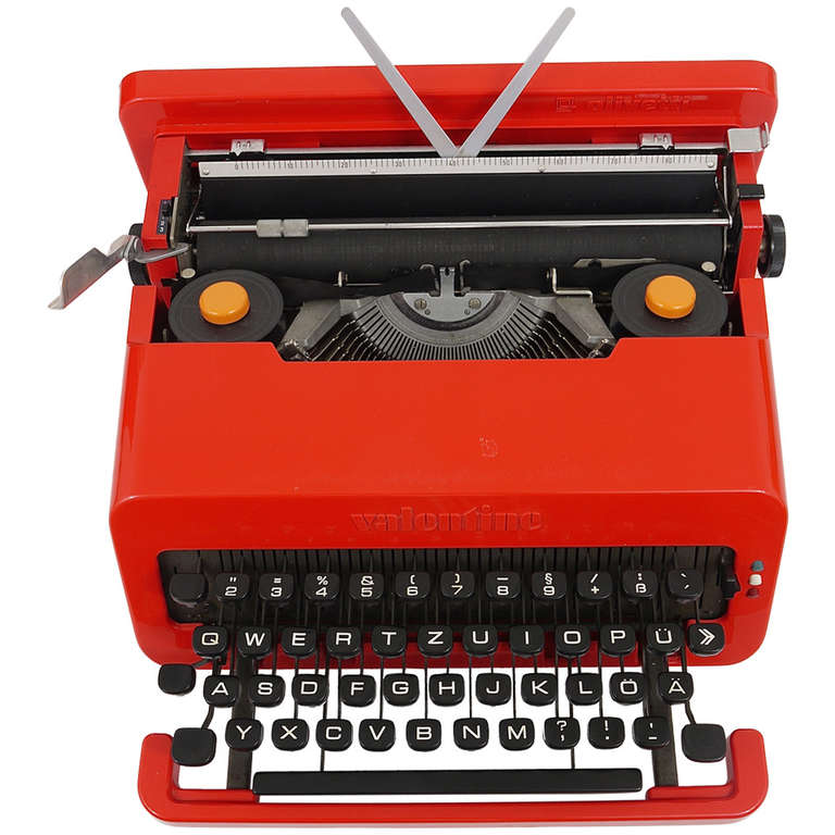 Valentine Typewriter by Ettore Sottsass & Perry A. King for Olivetti 1969 For Sale