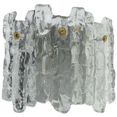 Kalmar Vienna Icicle Ice Glass Sconce Wall Light from the 1960s