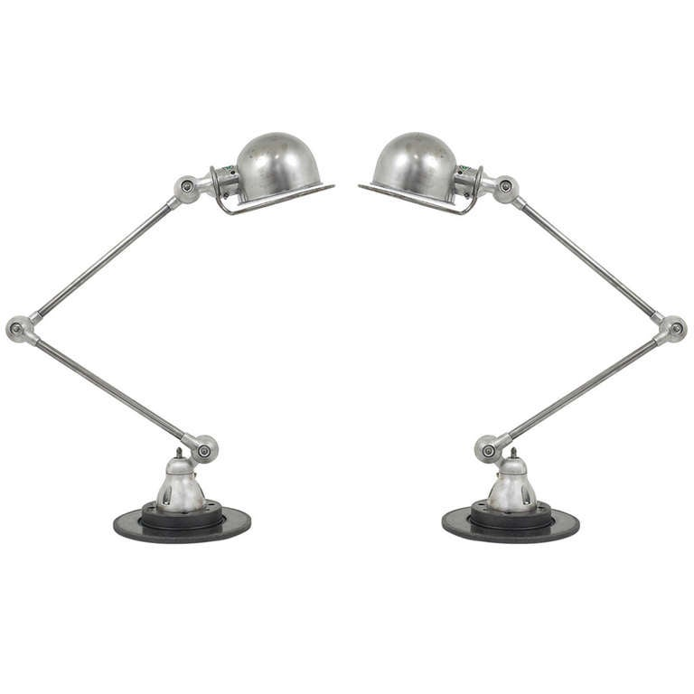Up To Two Jean Louis Domecq Jielde Lcyon Industrial Table Lamps, France,  1950s 1 Part 85