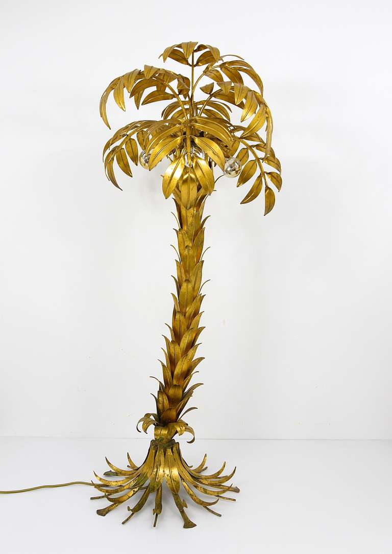 A Very Unique German Palm Tree Lamp From The 1970s Designed By Hans Kogl