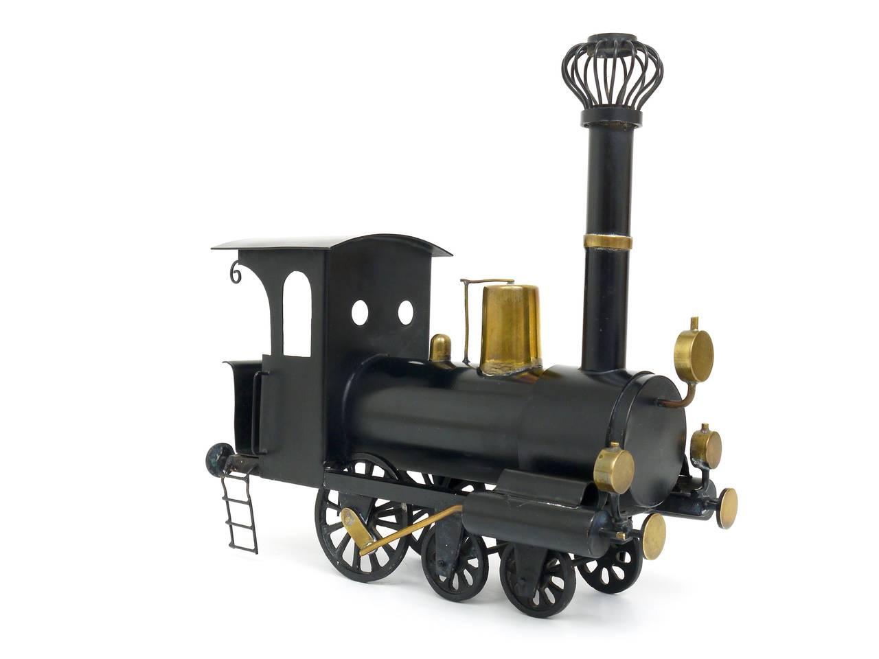 Austrian Rare WHW Hagenauer Brass Locomotive Steam Engine, Austria, 1920s For Sale