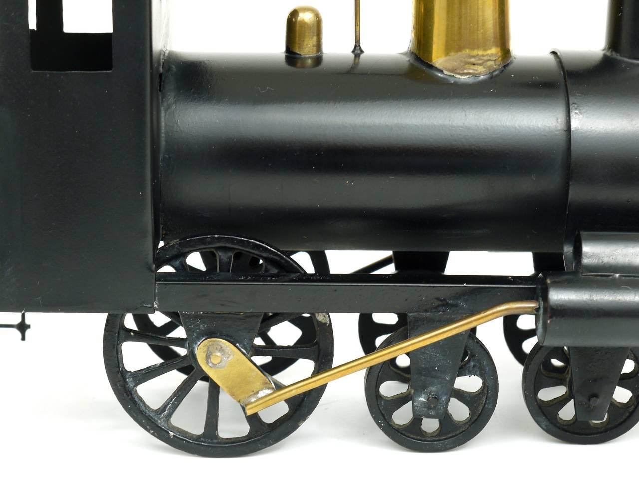 Rare WHW Hagenauer Brass Locomotive Steam Engine, Austria, 1920s For Sale 4
