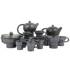 Carl Auböck Modernist Tea Set and Plates, Stoneware by Ostovics, Austria