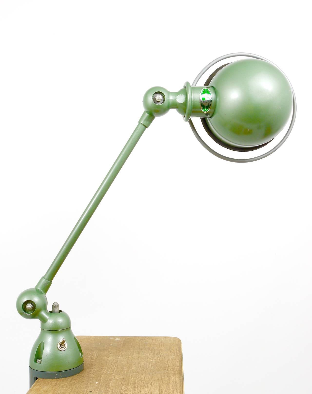 Two Matching Jean Louis Domecq for Jielde Lyon Industrial Clamp Lamps, 1950s For Sale 2