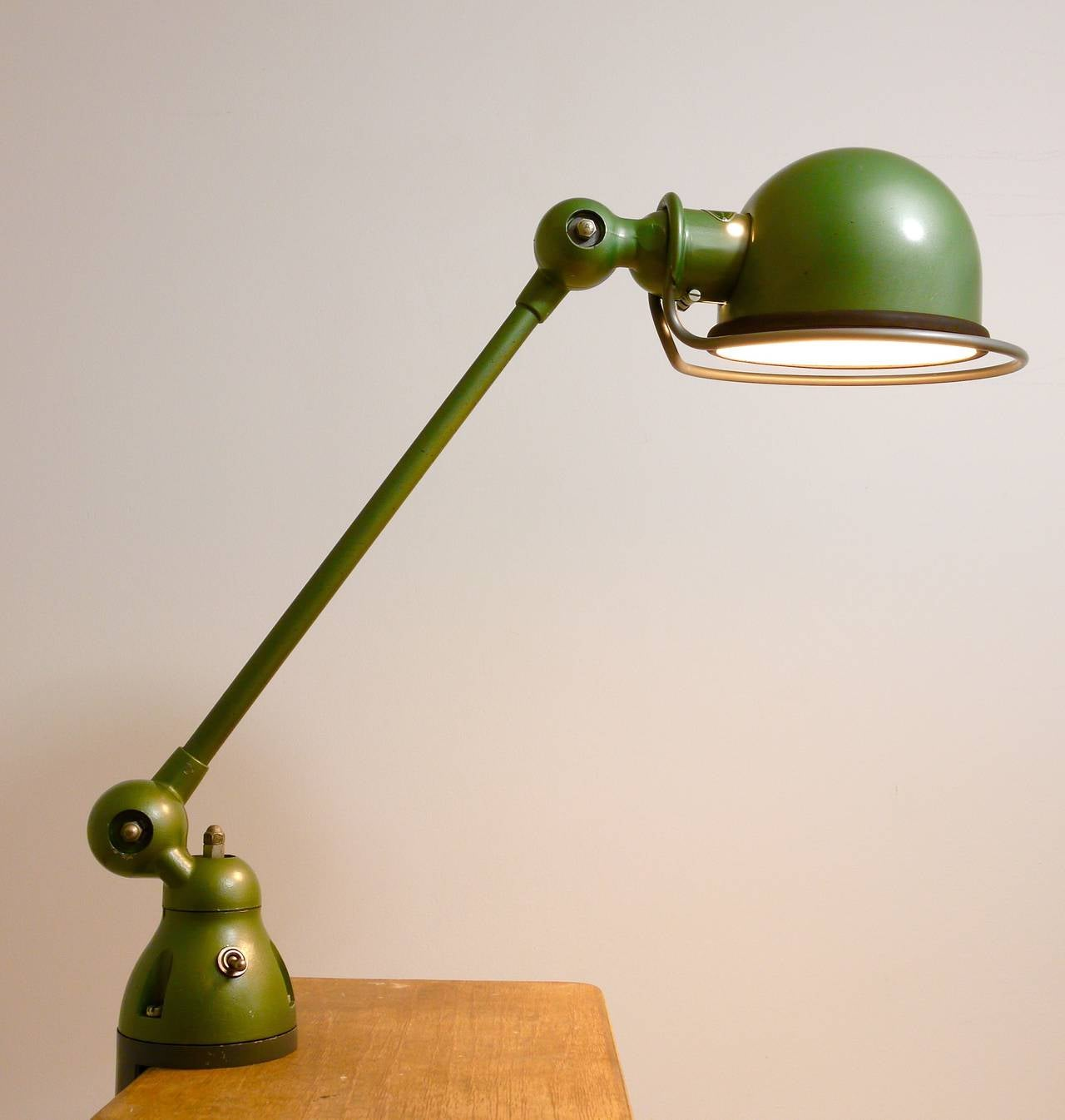 Two Matching Jean Louis Domecq for Jielde Lyon Industrial Clamp Lamps, 1950s For Sale 1