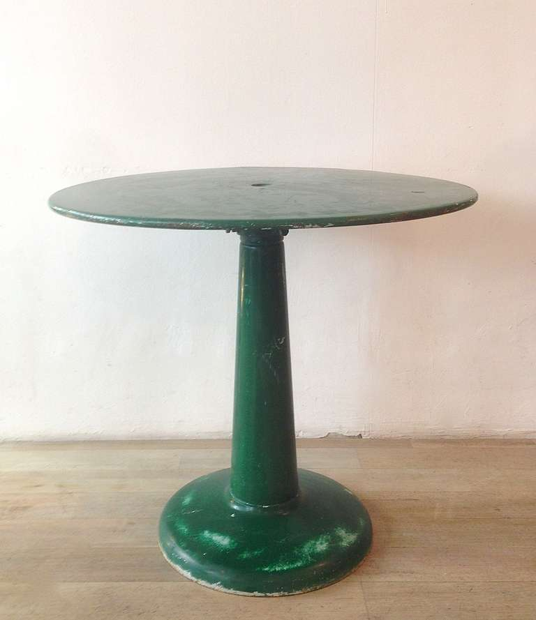 Mid Century Modern Tolix Round Bistro Table By Xavier Pauchard, 1950s For  Sale