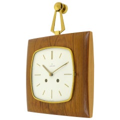 Beautiful Midcentury Striking Wall Clock by Junghans Germany, 1950s