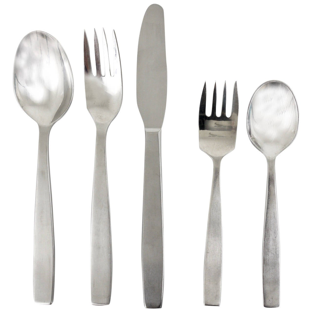Amboss Austria 2050 Flatware Cutlery for Six Persons by Helmut Alder, 1950s
