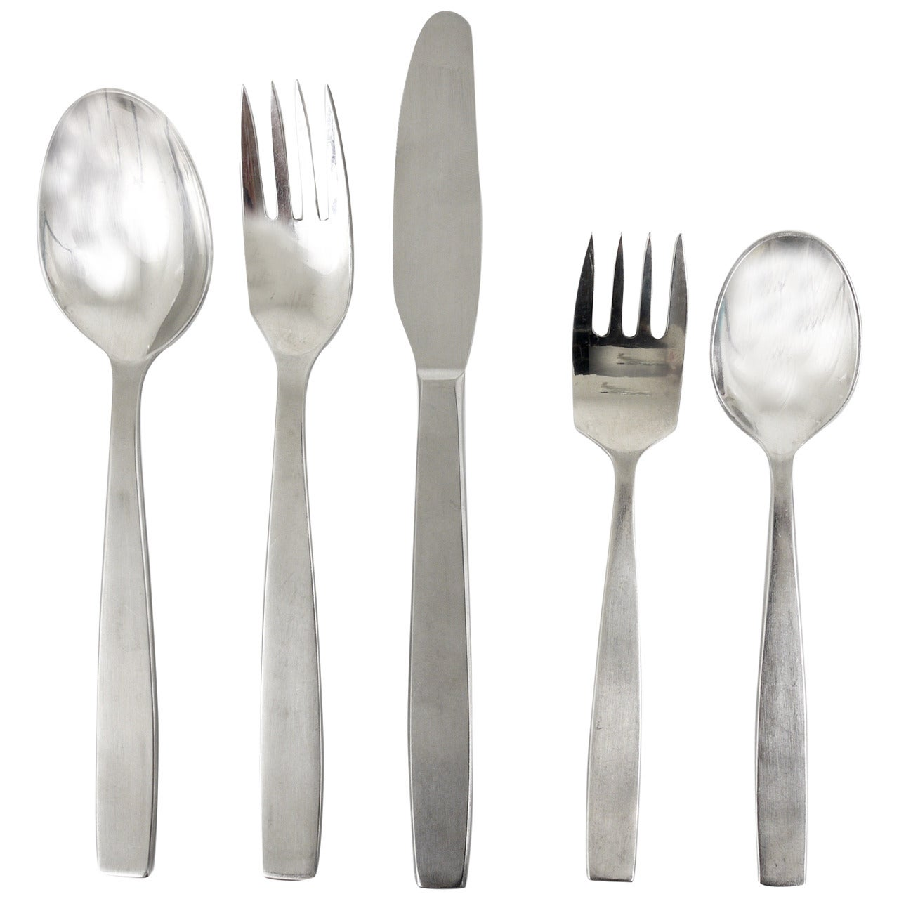 Amboss Austria 2050 Flatware Cutlery for Six Persons by Helmut Alder, 1950s