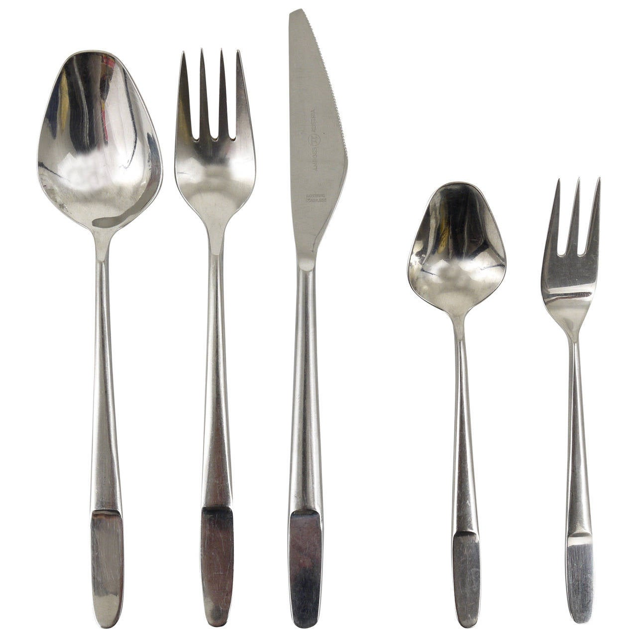 Amboss Austria 2070 Flatware Cutlery for 12 Persons by Helmut Alder, 1960s
