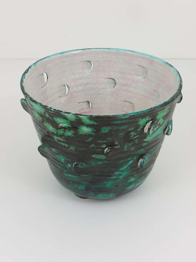 Michael Powolny Viennese Art Nouveau Ceramic Pottery Flower Pot, Austria, 1920s 6