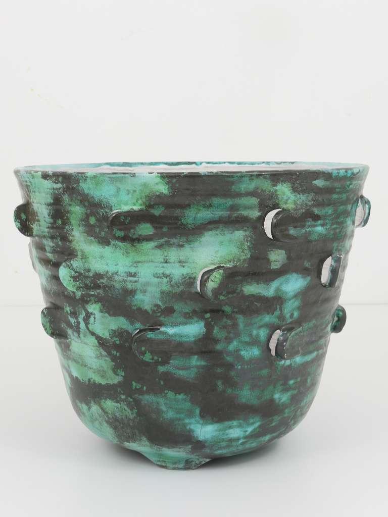 Michael Powolny Viennese Art Nouveau Ceramic Pottery Flower Pot, Austria, 1920s 7