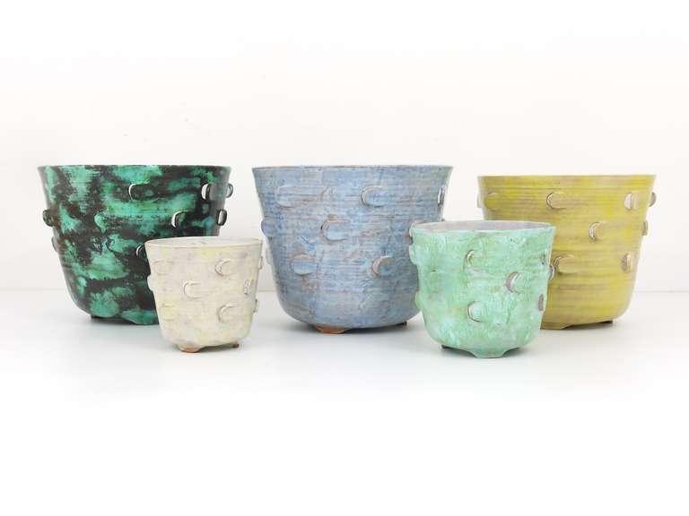 Michael Powolny Viennese Art Nouveau Ceramic Pottery Flower Pot, Austria, 1920s 5