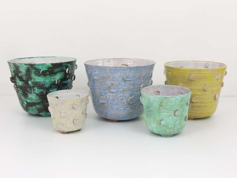 Michael Powolny Viennese Art Nouveau Ceramic Pottery Flower Pot, Austria, 1920s 8